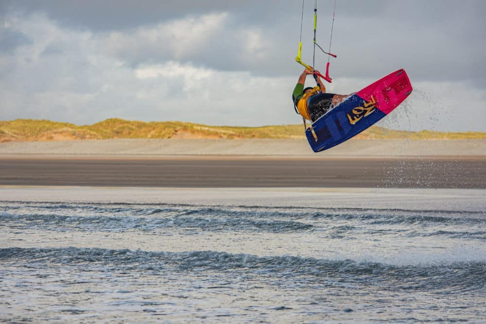 kiteboarding north devon Madie Evans