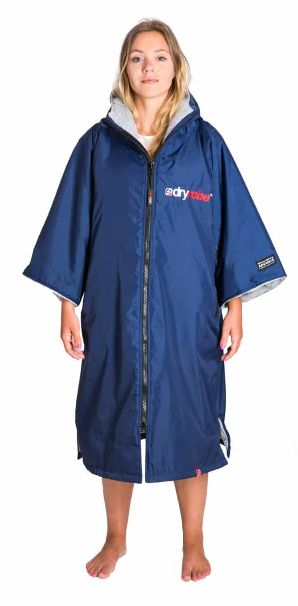 dryrobe advance navy outer grey inner