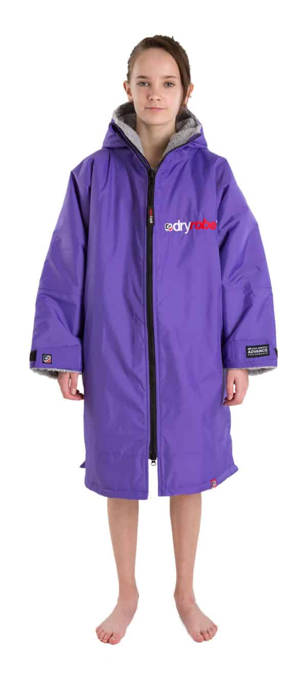 dryrobe advance purple outer grey inner